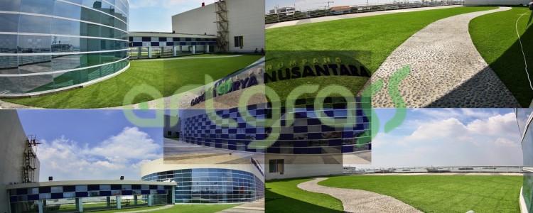 ArtGrass Menghijaukan Atap Terminal Penumpang Gapura Surya di Tanjung Perak – Surabaya