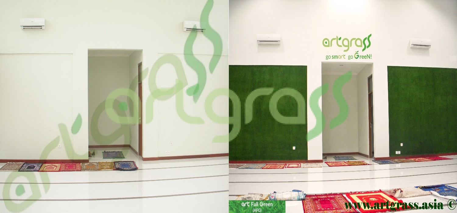 Before-After-Artgrass-Dinding-Musholla-Rumput-Sintetis
