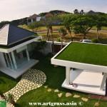 Rumput-Sintetis-ArtGrass-RoofTop-Greenifier-Hijau-Left-View
