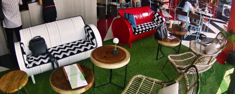 Artificial Grass For Decoration ArtFullGreen By ArtGrass Greenified Kooffee Roof Bar Surabaya