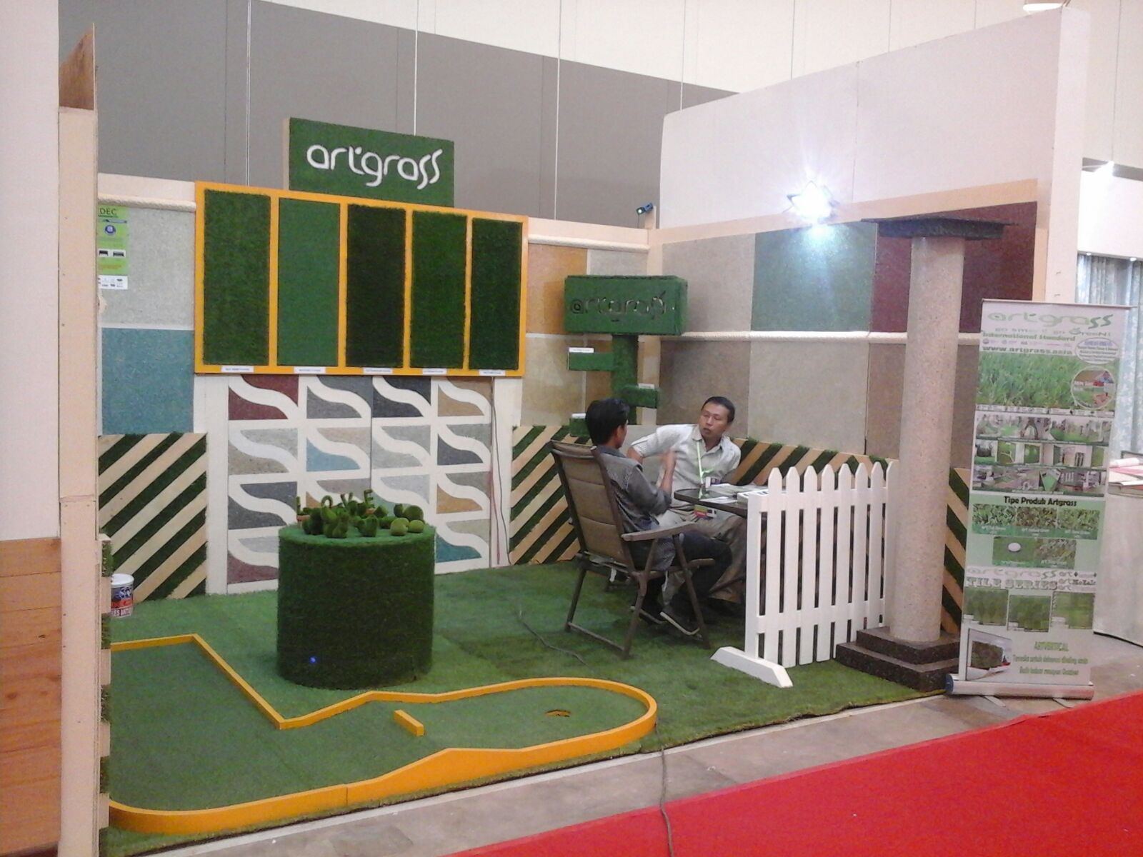 Rumput-Sintetis-ArtGrass-HomeDec-Jakarta-Exhibition-ICE-BSD-Okt2015