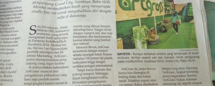 ArtGrass Featured on Surya NewsPaper 7 April 2016
