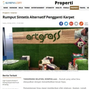 Kompas-28-mei-2016-Rumput Sintetis Alternatif Pengganti Karpet