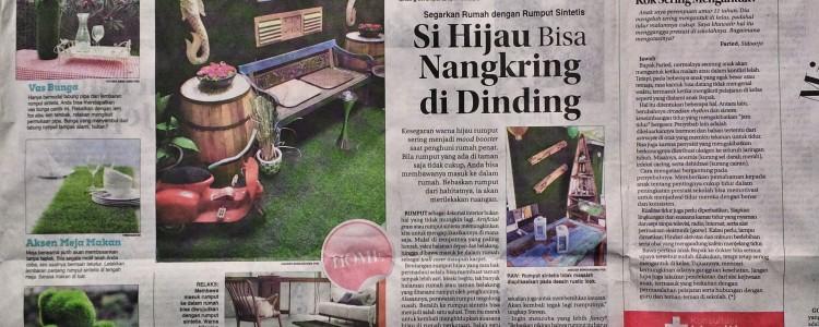 ArtGrass diliput Jawa Pos Edisi HOME tanggal 26 Mei 2015