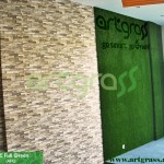 Artgrass-Dinding-Kantor-Batu-Alam-Rumput-Sintetis