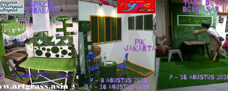 ArtGrass at Surabaya Jakarta Bali Exhibitions – 7-16 Agustus 2015