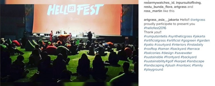ArtGrass Main Sponsor HelloFest 2016: JCC Plenary Hall, Jakarta
